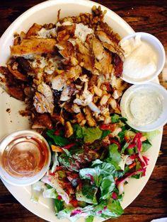Haifa Falafel - Ann Arbor, MI, United States. Shawarma plate and majadra!  www.mrdelivery.com