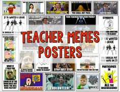 """Teacher and student meme posters are great for going over class rules and procedures. From """"Back to School Activities that Inspire Creativity"""""""