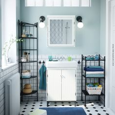 Get inspired for your next bathroom renovation with some of the best-loved bathroom Ikea Bathroom Vanity, Bathroom Wall Storage, White Bathroom Cabinets, Bathroom Furniture, Small Bathroom, Bad Inspiration, Bathroom Inspiration, Bathroom Trends, Bathroom Ideas