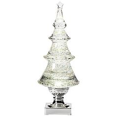 $23.99 jcp | Roman White Swirl Acrylic Christmas Tree