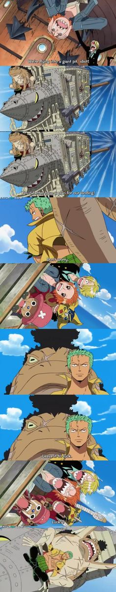 Zero defies all logic. He is sitting crossed legged over a train(?) on the fucking nose of it, while falling trough the air who knows how high, at who knows what speeds and is not fucking falling. One Piece Meme, One Piece Funny, Roronoa Zoro, Manga Anime, One Piece Images, Kaichou Wa Maid Sama, Monkey D Luffy, Another Anime, Anime Shows