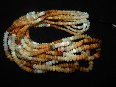 35.60 Ct 16 Natural Fire Play Welo Ethiopian  Opal Beads Necklace for Women