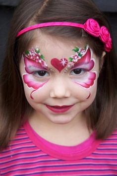 Love, love, love this.  Pixies Face Painting Gallery valentine pink flower petals