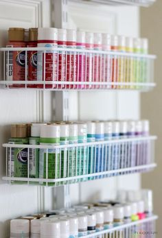 Hi Sugarplum Organized Craft & Gift Wrap Great idea for using the back of a closet door for more storage and organization Craft Closet Organization, Craft Room Storage, Closet Storage, Craft Rooms, Organize Craft Closet, Organization Ideas, Storage Ideas, Pegboard Craft Room, Organizing Crafts