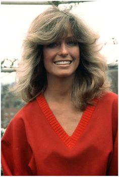 Farrah Fawcett (1978), ícono de la cultura pop, una verdadera sex symbol y una de las tres Ángeles de Charlie, junto Jaclyn Smith y Kate Jackson.