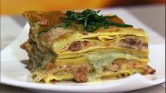 Mario Batali's Spicy Sausage Lasagna  with Pesto