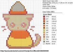 Candy Corn Cat by carand88.deviantart.com on @deviantART kawaii cross stitch