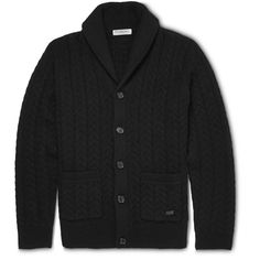 Burberry London - Slim-Fit Wool and Cashmere-Blend Shawl-Collar Cardigan MR PORTER