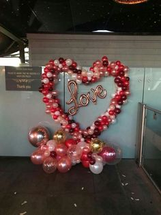 Valentines Balloons, Valentines Day Party, Valentines Day Decorations, Birthday Decorations, Wedding Decorations, Balloons Galore, Celebration Balloons, Balloon Display, Christmas Crafts For Kids To Make