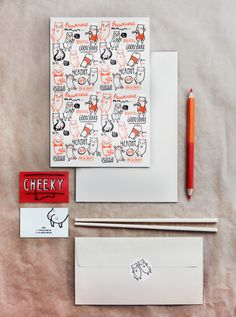Cheeky Buns branding; fun, cute illustrations. love the orange and red color scheme.