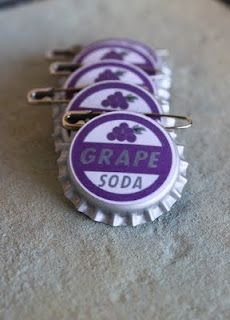 Ellie Badges. Cute for the wedding party maybe? Plus, they're purple. :)