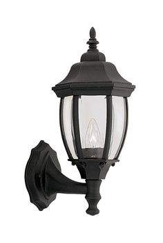 "Designers Fountain Tiverton 14.75"" Outdoor Wall Lighting - Black 2420-BK $33.75"