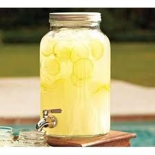 lemonade and tea pitchers for reception