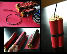 Dynamite Craft--use rolo candy wrapped in paper.  Cute father's day DIY