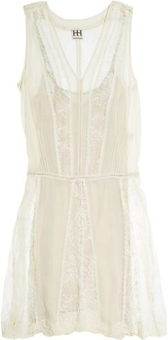 Silkgeorgette & Lace Dress. Summer time loves the dresses!