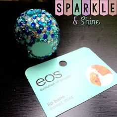 Sweet Mint Bling EOS Lip Balm Shades Of by SparkleAndShineByLW, $10.00