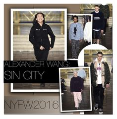 """""""Alexander Wang: Sin City/NYFW 2016"""" by nastya-d ❤ liked on Polyvore featuring mens, men, men's wear, mens wear, male, mens clothing, mens fashion, AlexanderWang and nyfw2016"""