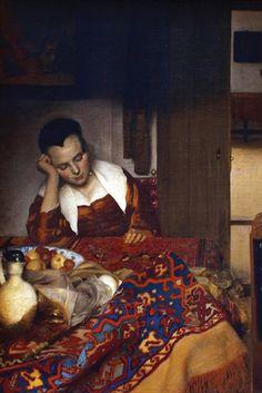 Slapend Meisje - Sleeping Girl No. 2, by Johannes Vermeer