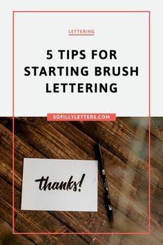Start lettering tips. Brush Lettering, Hand Lettering, Type Anatomy, Draw Two, Letter I, Brush Pen, Your Word, Get Started