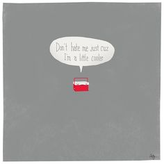 I'm just a little cooler. @ FMGD - …I'm just a little cooler… @ FMGD Cute Puns, Funny Cute, Punny Puns, Funny Illustration, Illustration Artists, Just A Little, Cookies Et Biscuits, I Laughed, Laughter