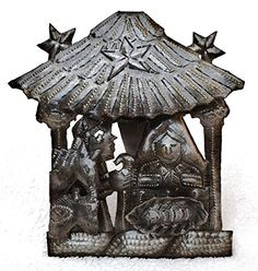 Mini Nativity Haiti Metal Art Recycled Oil Drum Fair Trade Project *** Read more  at the image link.