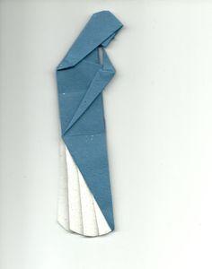 Marcador de páginas em origami Nossa Senhora