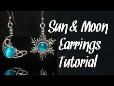 Wire Jewelry Designs, Moon Earrings, Wire Work, Bead Weaving, Copper Wire, Simple Designs, Wire Wrapping, Wraps, Jewelry Making
