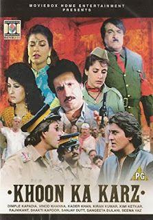 Khoon Ka Karz 1991 Full Hindi Movie Watch Online Dvd Hd Print Download Hindi Movies Movie Plot Hindi