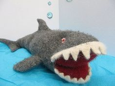 Great White Shark Recycled Wool Sweater Felt Soft...