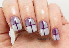 Geometric Gradient Nails mit Indigo To Go (ESSENCE, The Gel Nail Polish)