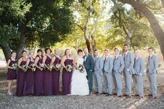wedding party - the bridesmaids are wearing amsale dresses