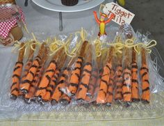 Tigger Tails for a Winnie the Pooh in the Hundred Acre Woods Birthday Party Ideas | Photo 20 of 29 | Catch My Party