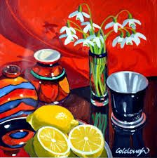 frank colclough - I like how he has used the same objects as in the other one but has changed the orientation and flowers.