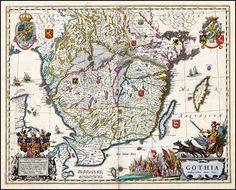 Map of Southern Sweden, 1688