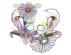 """Check out new work on my @Behance portfolio: """"Skull Horn Girl"""" http://be.net/gallery/54786237/Skull-Horn-Girl"""