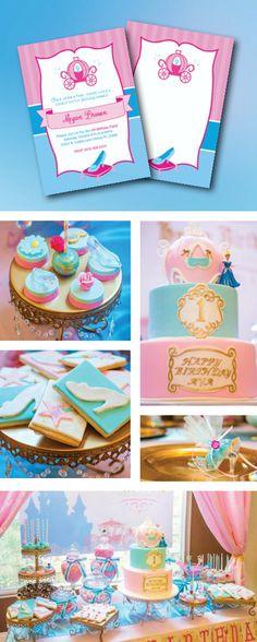Princess Cinderella, Cinderella themed Birthday Party, Girl Birthday Party, Decoration ideas