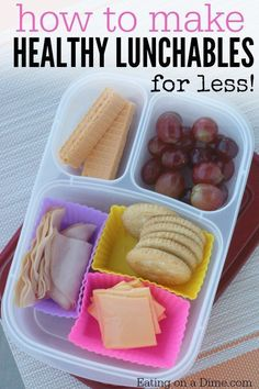Want easy lunch ideas for kids? Leanr How to make Healthy Lunchables that your kids will love. Save money by making homemade lunchables at home.