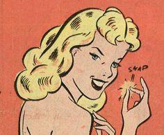 oh snap! Blonde vintage comic book girl retro pop art illustration Source by christieinthesky Pop Art Vintage, Vintage Comic Books, Vintage Comics, Comic Books Art, Comic Art, Book Art, Retro Vintage, Vintage Ideas, Art And Illustration