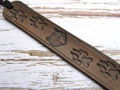 Leather Bookmark Wolf Animal Book Mark Wilderness Bookmarks