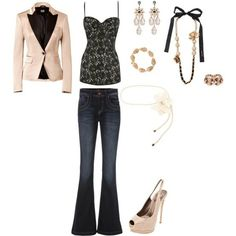 OUTFITS 4 LESS | like the outfit, perhaps with a less pink blazer | Outfits