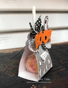 "GOOD MORNING my sweet friends & welcome back to another ""Whatever Wednesday! Halloween Treat Holders, Halloween Favors, Halloween Labels, Halloween Scrapbook, Halloween Treats, Halloween Fun, Fall Paper Crafts, Halloween Paper Crafts, Candy Crafts"