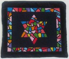 Star of David Tallit Bag Needlepoint Canvas by pepitaneedlepoint, $72.00