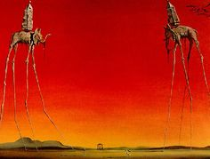 Les Elephants by Salvador Dali