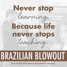 Education is the key to success! Words of wisdom from #BrazilianBlowout & #ParamountBeauty #doyoubb
