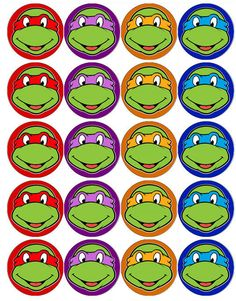 ninja turtles cupcake toppers - Google Search