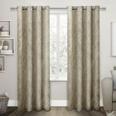 Exclusive Home Twig Room  Darkening Grommet Top Window Curtain Panel Pair
