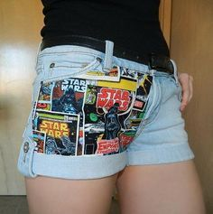 DIY Clothes Refashion : DIY Fabric Panel Shorts with No Sewing