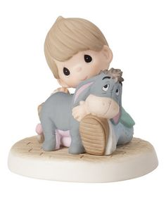 Eeyore Seated with Boy Figurine