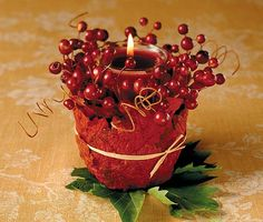 This charming Votive Candle Holder is the perfect reception table decoration for an autumn wedding. Use one at each place setting and you'll need no other table decor. Apart from creating a pretty display for your reception, guests can take them home at the evening