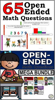 This bundle combines all of my opened ended math questions products. It targets number, fractions and decimals, money, chance, data, probability and word problems.